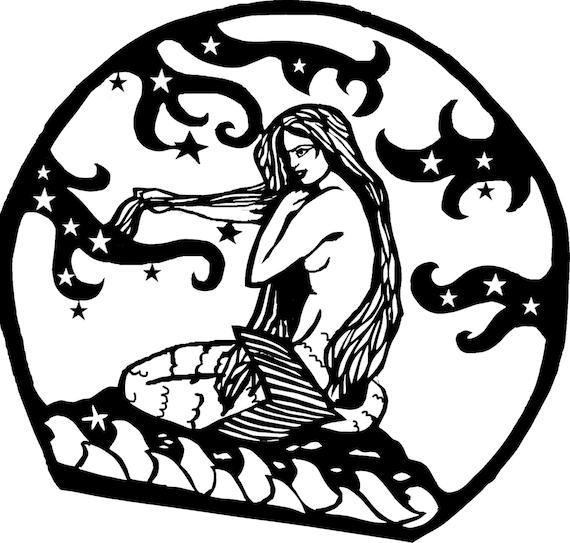 Basket Weaving Nuneaton : Mermaid commercial use papercutting template pattern