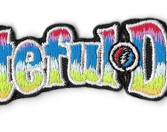 Grateful Dead Rainbow Logo Embroidered Patch / Iron On Applique Band, 1970s, Jerry Garcia, Deadheads