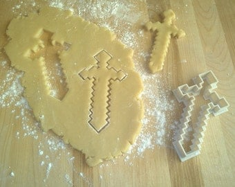 Minecraft Inspired MC Saber Cookie Cutter