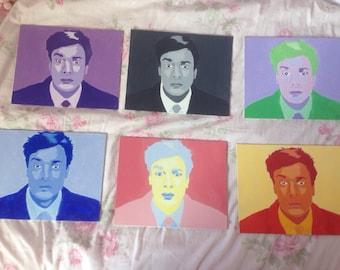 Six 8X10 Jimmy Fallon Acrylic Paintings (reblogged by the tonight show tumblr)