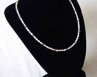 Dainty Rice Freshwater Pearl Necklace