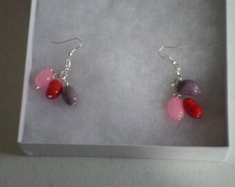Jelly Bean Beaded Earrings