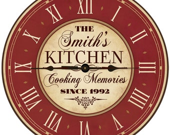 Popular items for kitchen wall clocks on Etsy