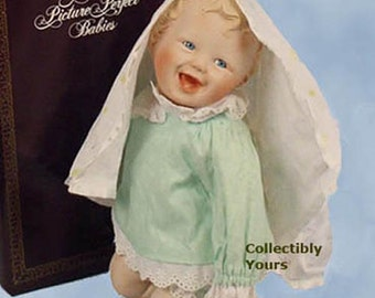 New Ashton Drake HAND-SIGNED Yolanda Bello JESSICA Picture Perfect Babies Porcelain Doll , Mint,  Never Displayed