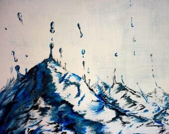 "Waves, Original Acrylic Painting, 24x18"""
