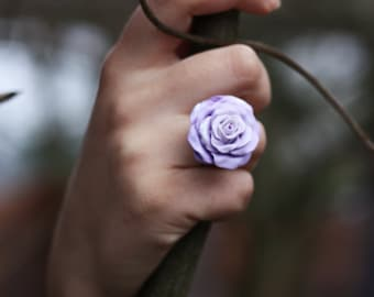 Pastel Purple Rose Ring