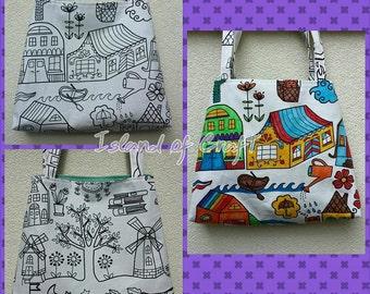 Color Your Own Tote Bag,Children Bag,Girls Bag