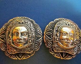 Very Weird Old Mask Image Earrings Lightweight (E223)