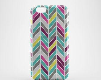 Multi-coloured Chevron Phone case,  iPhone X Case, iPhone 8 case,  iPhone 6s,  iPhone 7 Plus, IPhone SE, Galaxy S8 case, Phone cover, SS144a
