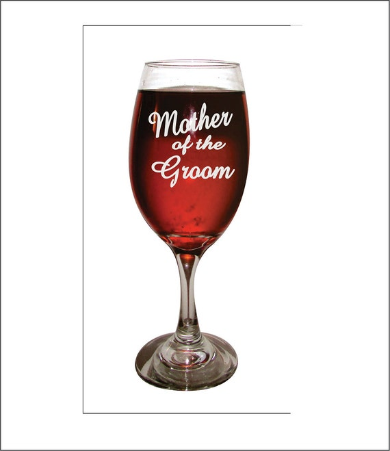 Mother Of The Groom Long Stem Wine Glass