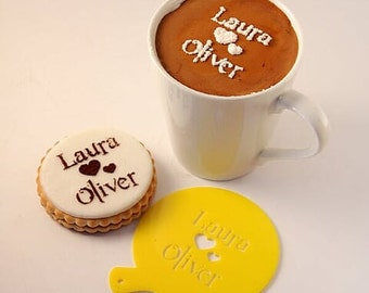 Custom Stencil, Coffee Stencil, Cookie Stencil, Custom Stencil