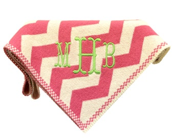 In2Green Eco Conscious Baby Blanket in Pink Chevron