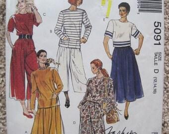 UNCUT Misses Two-Piece Dress - Size 12, 14, 16 - Vintage 1990