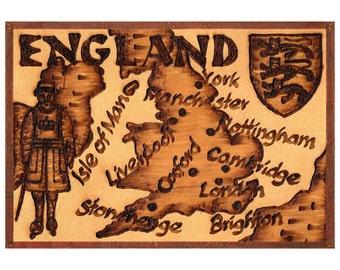 ENGLAND - Handmade Leather Travel Photo Album - Natural