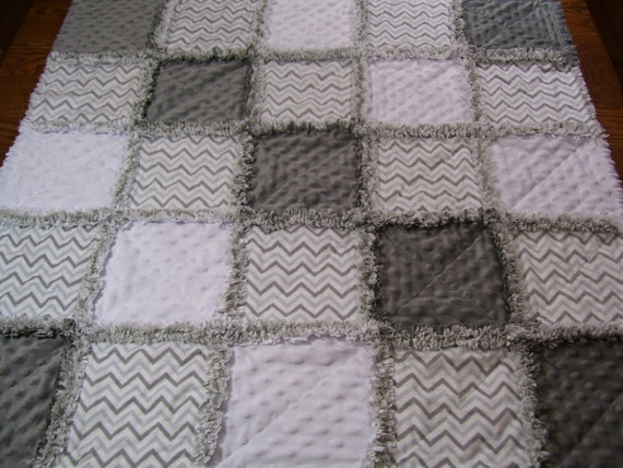 Baby Rag Quilt Rag Quilt Gray And White Baby Quilt Gray And