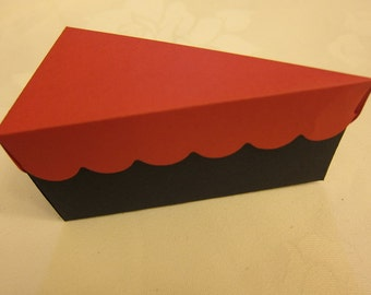 6 Cake Slice Treat Box Favor   .