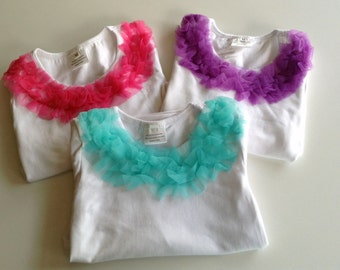 Boutique Ruffle Top Long Sleeve