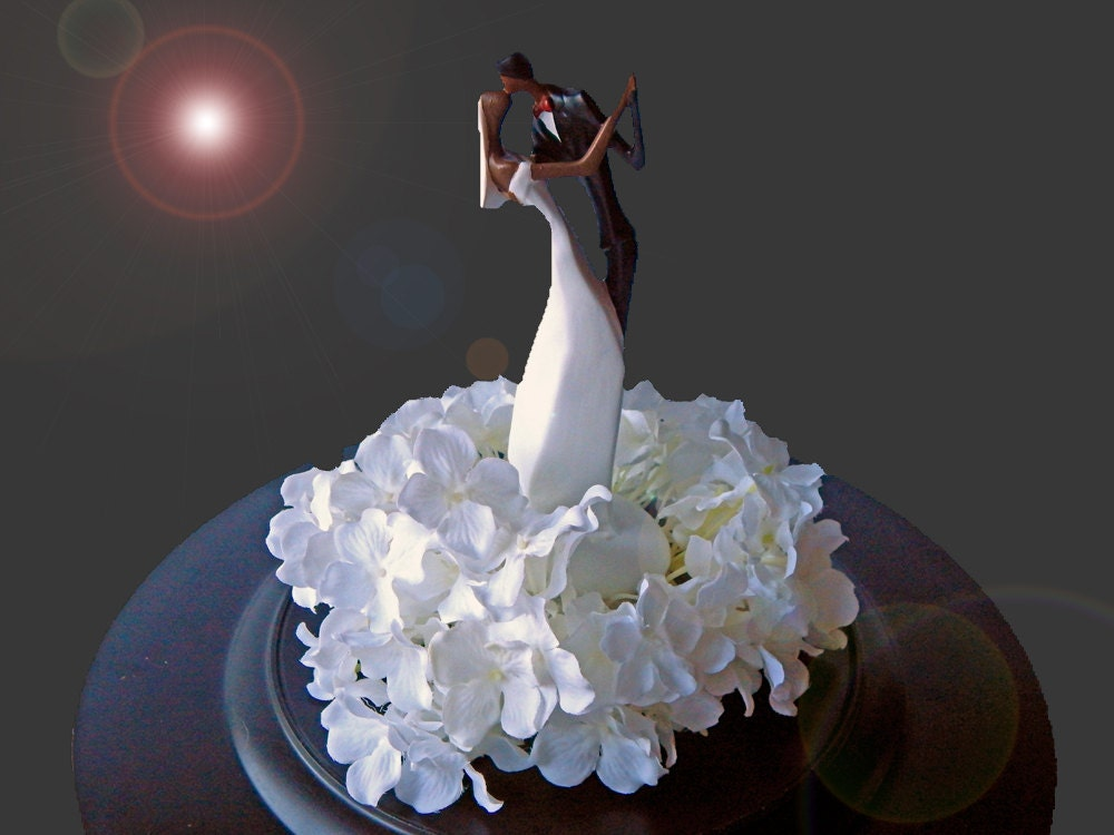 african american cake toppers for wedding cakes items similar to american wedding cake topper 10594