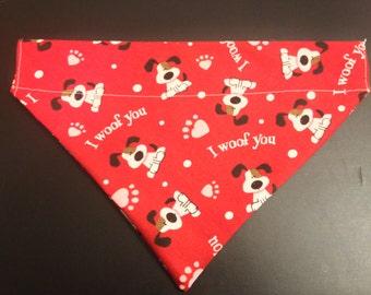 Dog bandana, Valentine's Day dogs and hearts