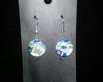Foil bead earrings