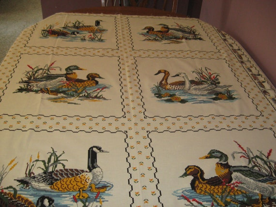 Spring Industries 6 pillow top panels with ducks by bellringer429