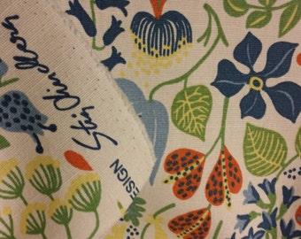 Stig Lindberg fabric Herbarium made in Sweden 60s