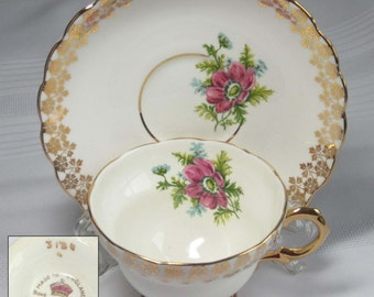 Rosina 3180 Bone China Tea Cup and Saucer - Made in England