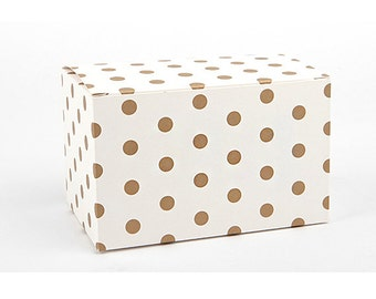2 x Gift Boxes / Gold dots box / Medium gift box / wedding gift boxes / paper boxes / cookie box / craft boxes / candle boxes / soap boxes /