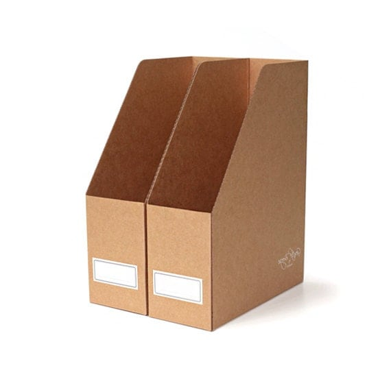 Cardboard Magazine Holders 41 x Kraft file boxes magazine file holders Kraft paper 14