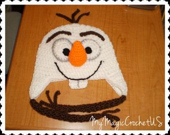 Olaf Crochet Hat Made with Soft yarn