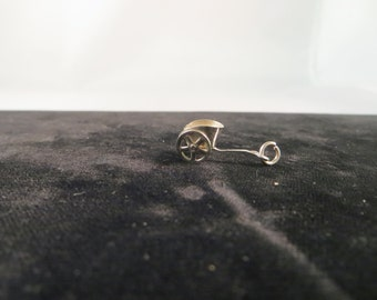 Vintage Sterling Silver Chariot Charm