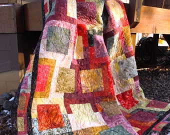 Sunset Stroll Quilt Kit, Twin Size, includes pattern and fabric