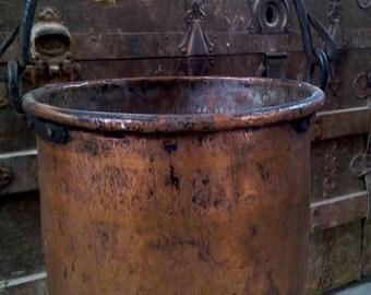 Antique-Copper-Cauldron-Antique-Big-Copper-Pot-of-XIX-century