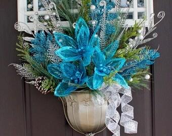 Turquoise and Silver Door Arrangement