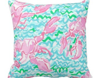 Lilly Pulitzer Lobstah Roll Pillow