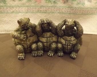 Speak - See - Hear No Evil Turtles - Unmarked