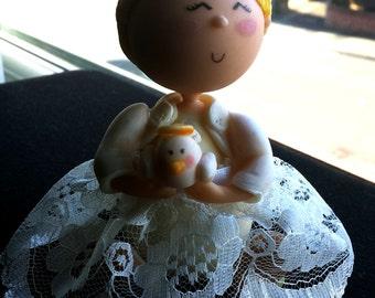 Girl Baptism/Christening cake topper