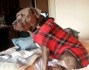 Custom Size - Hand made fleece dog jacket.