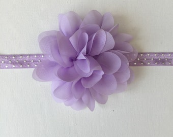 lavender headband, newborn, infant, toddler, baby headband, lavender,  baby girl gift, baby shower gift, baby girl,