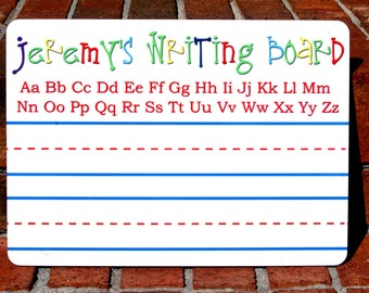 Personalized Print writing board, dry erase and FREE shipping