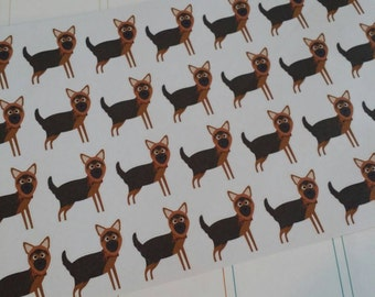 German Shepard Stickers! Dog Stickers! Perfect for your Erin Condren Life Planner, calendar, Paper Plum, Filofax!