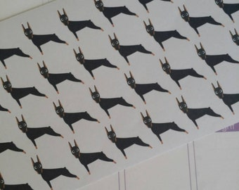 Doberman Dog Stickers! Dog Stickers! Perfect for your Erin Condren Life Planner, calendar, Paper Plum, Filofax!