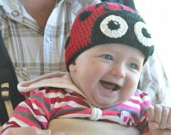 Love bug beanies, ladybird hats, ladybug beanies