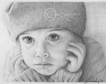 Day Dreamer Pencil Drawing Print