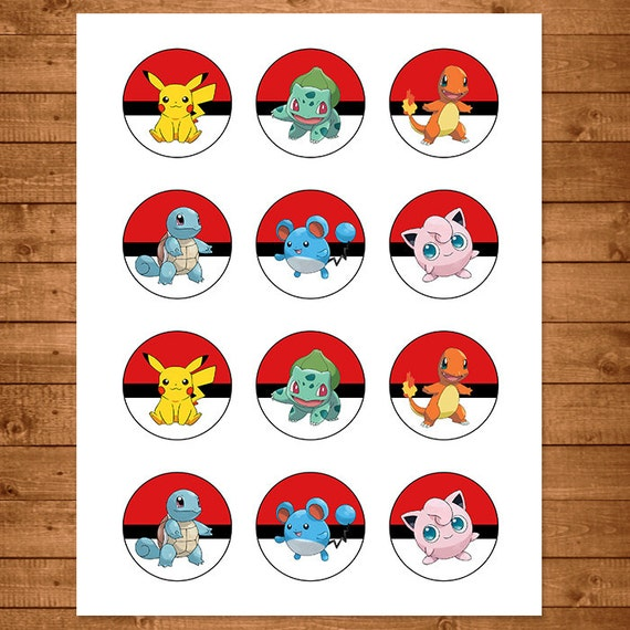 Pokemon Cupcake Toppers Red Amp White Pokemon By