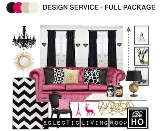 Interior design service online edesign complete 1 room for Cheap interior design services
