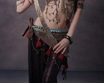 A001 Belly dance Tribe performance ( 3 pieces : Top bra, belt, pant)
