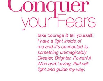 Conquer your fears. —Pinay.com | Version 1 - Dark pink font on white