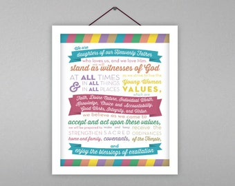 50% OFF LDS Young Women's Theme Poster Download