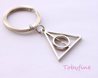 Deathly Hallows keychain, Harry Potter style key chain